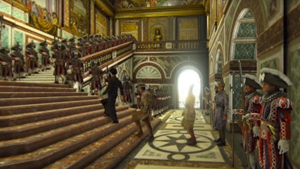 Visite virtuelle de Versailles - Escalier des ambassadeurs !