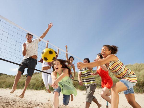 Partie de volley ball